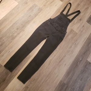 Free People Faded Black Overalls